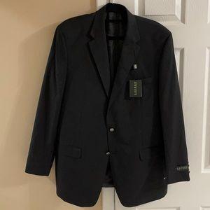 RALPH LAUREN Men Suit Jacket /Blazer Size 46LONG, Black color NWT